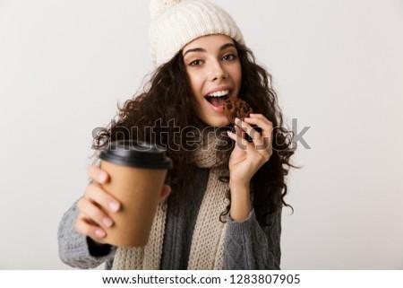 Bastante invierno bufanda pie Foto stock © deandrobot