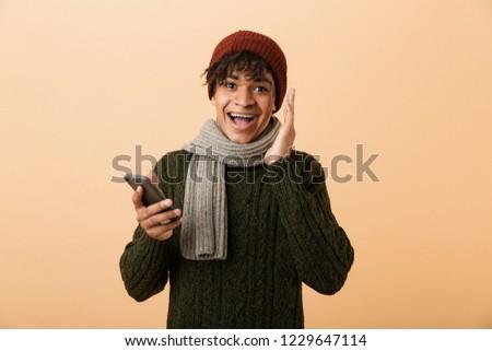 Portrait positif Teen homme chapeau Photo stock © deandrobot