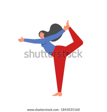 Yoga Lord of the Dance Pose Icon. Flat Design Isolated Illustration. Stock photo © WaD