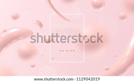 Stockfoto: Vloeistof · vloeibare · abstract · vector · mooie