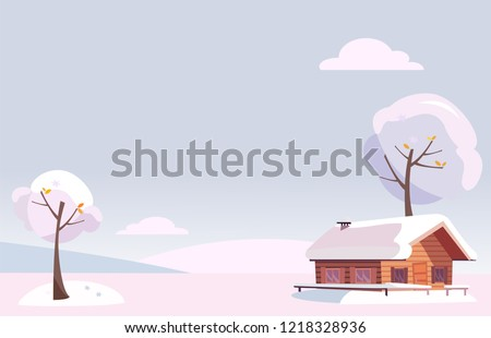 mavi · kış · köy · manzara · ev · Noel - stok fotoğraf © frimufilms