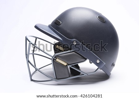 крикет шлема гриль белый сторона вид сбоку Сток-фото © Winner
