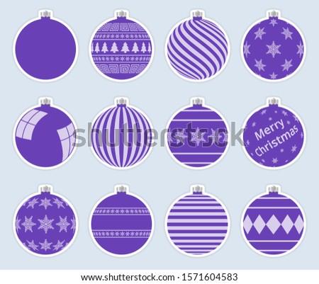 tiszta · vidám · karácsony · hópelyhek · golyók · háttér - stock fotó © ukasz_hampel