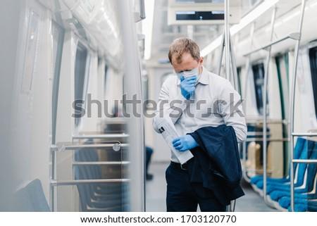 Beteg férfi ingázó koronavírus műtét orvosi Stock fotó © vkstudio