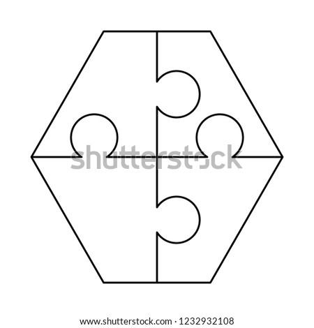 белый частей шестиугольник форма шаблон Сток-фото © evgeny89