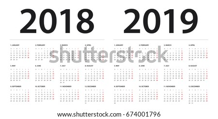 Simple calendar on june 2019 year with week starting from monday isolated on white Stock photo © evgeny89