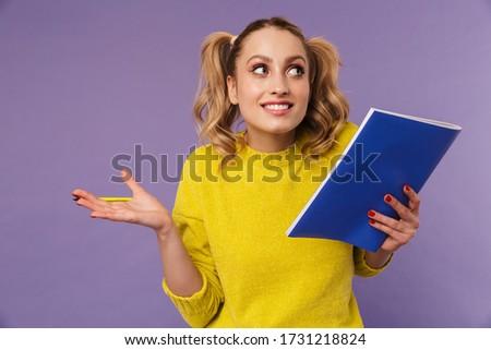 画像 混乱 きれいな女性 2 ポーズ 練習帳 ストックフォト © deandrobot
