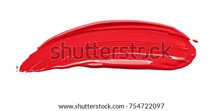 Red paint smear Stock photo © goir