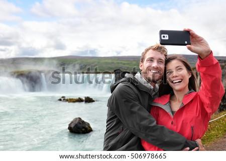 Islândia turista foto cachoeira Foto stock © Maridav