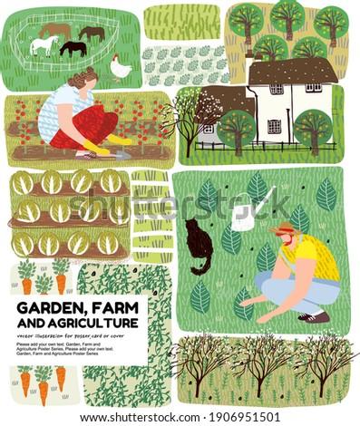 Rolnik ogrodnik rozwój eco marchew kapusta Zdjęcia stock © robuart