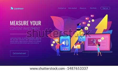 Media content production app interface template. Stock photo © RAStudio