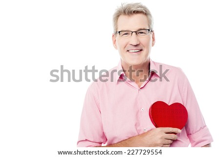 Male Senior Red Heart ストックフォト © stockyimages