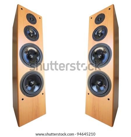 Akoestisch stereo geïsoleerd witte vierkante achtergrond Stockfoto © moses
