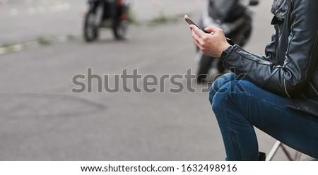 Bonito moço chamada telefone móvel telefone Foto stock © jarp17