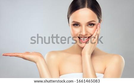 duygular · kozmetik · çiçek · yüz · moda · gözler - stok fotoğraf © pandorabox