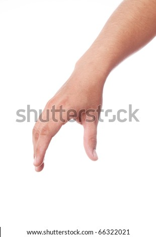 hand picking something with space in blank for insert text or de Stock photo © oly5