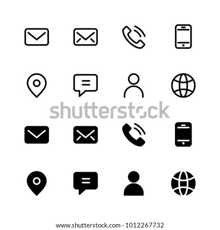 Contact Icons Stock photo © Wetzkaz