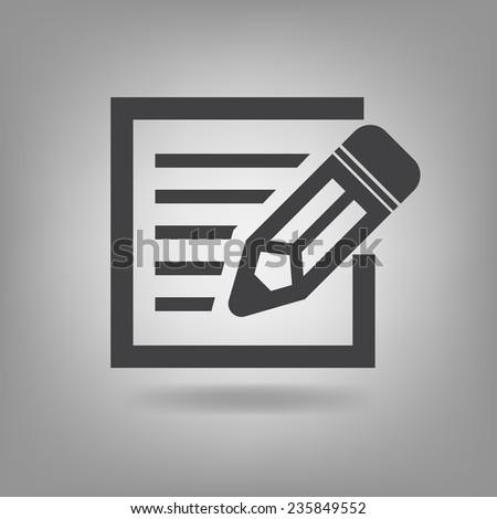 Vektör posta yazı ikon simge iş Stok fotoğraf © thanawong