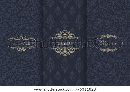 Szett damaszt végtelenített dísz klasszikus minta Stock fotó © popaukropa