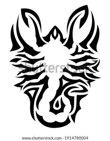 Monokróm matrica fehér fekete kép állatöv Stock fotó © ylivdesign