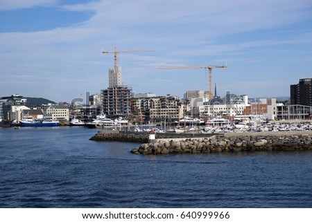 urban houses and construction sites in bodo north of the polar stock photo © slunicko