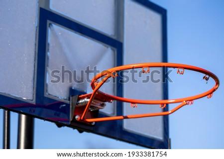 Calle baloncesto bordo aire libre tribunal azul Foto stock © stevanovicigor
