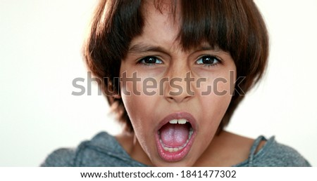 cute little preschool boy isolated on white mixed race arabic white   african american stock photo © zurijeta