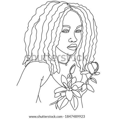 hermosa · mujer · sexy · simple · arte · línea · vector - foto stock © doddis