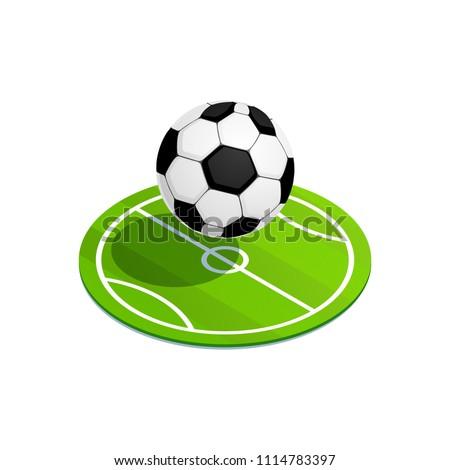 Futball gól ikon izometrikus 3D stílus Stock fotó © ylivdesign