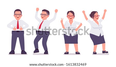 Illustration that a middle-aged man consulting a female pharmaci Stock photo © yamayo74