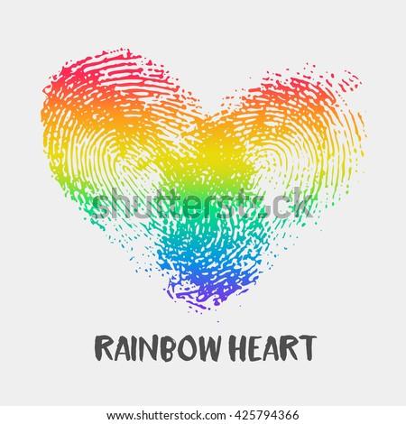 LGBTQ Rainbow. LGBT rights conceptual illustration / flat editab Stock photo © nadia_snopek