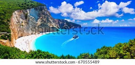 Most beautiful beaches of Greece series - Porto Katsiki in Lefkada island Stock photo © Freesurf