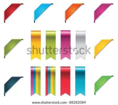 Curled Ribbon Corner Stockfoto © tele52