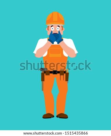Oluşturucu omg işçi kask benim Tanrı Stok fotoğraf © popaukropa