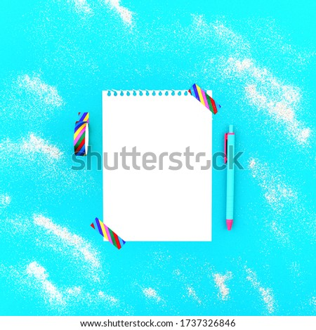 Torn floral background for gift design. Bright decor with abstract flowers and leafs. Stock photo © mcherevan