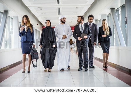 oriente · médio · homem · caucasiano · mulher · falante · negócio - foto stock © monkey_business
