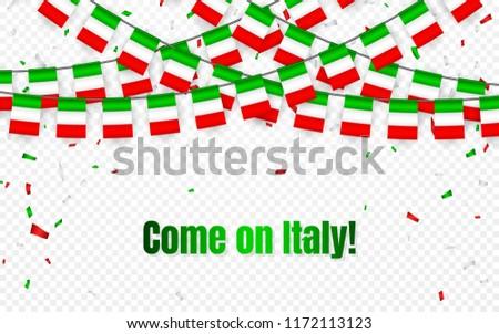 Italia · ghirlanda · bandiera · confetti · trasparente · celebrazione - foto d'archivio © olehsvetiukha