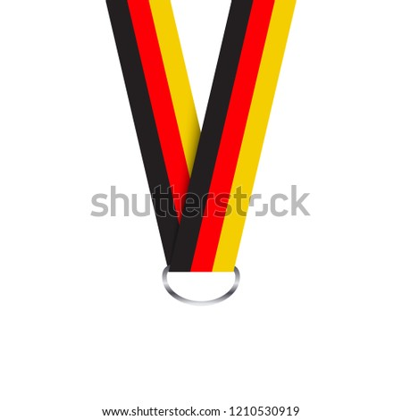 şerit madalya üç renkli basit yalıtılmış beyaz Stok fotoğraf © kurkalukas
