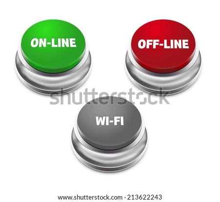 technical green button push background. Vector illustration design Stock photo © Linetale