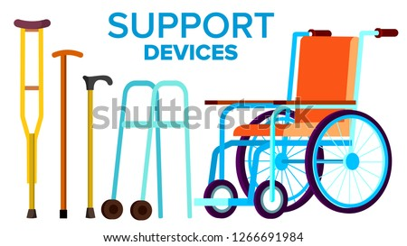 disabili · persone · set · sedia · a · rotelle · portatori · di · handicap · sagome - foto d'archivio © pikepicture