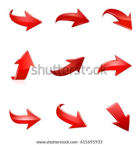 3D · красный · стрелка · вверх · изолированный · белый - Сток-фото © kyryloff