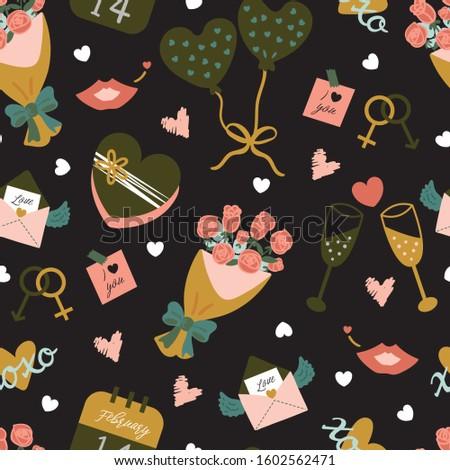 hot · lucht · ballonnen · patroon · naadloos · retro · patroon - stockfoto © bonnie_cocos