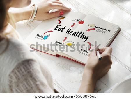 Notebook diéta terv friss zöldségek gyümölcsök asztal Stock fotó © mizar_21984