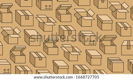 Sem costura conjunto cartão caixas 3D projeto Foto stock © kup1984