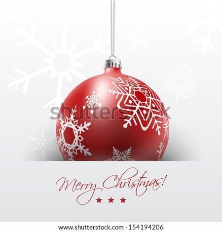 вектора · Рождества · реалистичный · красный · счастливым - Сток-фото © frimufilms