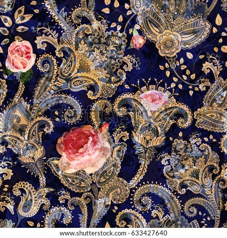 Vintage koronki bezszwowy wektora wzór dekoracyjny Zdjęcia stock © RedKoala