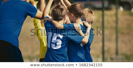 dzieci · grać · piłka · nożna · trawy · sportowe · dziedzinie - zdjęcia stock © matimix