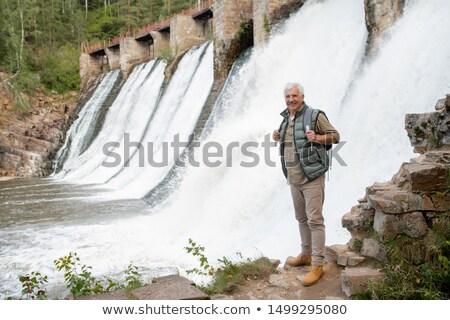 отставку мужчины пеший турист глядя Постоянный Сток-фото © pressmaster