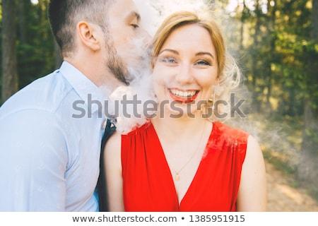 глупый бизнесмен любви лице слепых большой Сток-фото © ra2studio