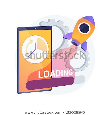 Acelerar fortalecimento vetor metáfora rápido internet Foto stock © RAStudio